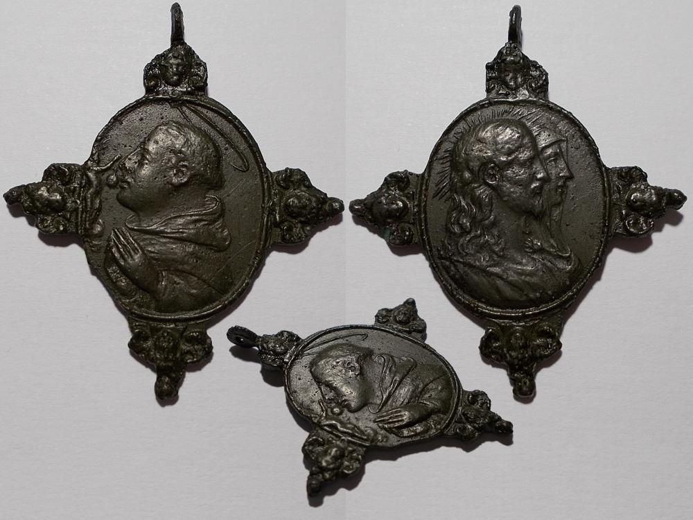 Bustos acolados de Jesús y María / S. Antonio de Padua, S. XVII-(6/6)(R.M. SXVII-O462) 20171119